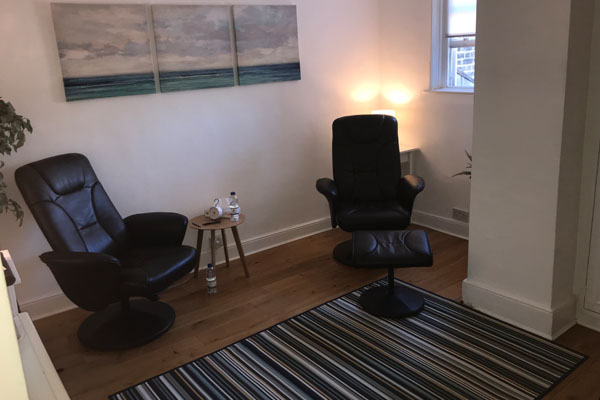 Neil Drew Hypnotherapist Office